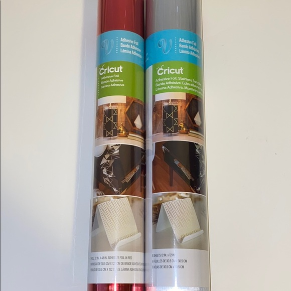 NWT Bundle of 2 rolls of Cricut Adhesive Foil